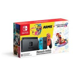 Nintendo Switch + Arms и Mario Kart 8 Deluxe
