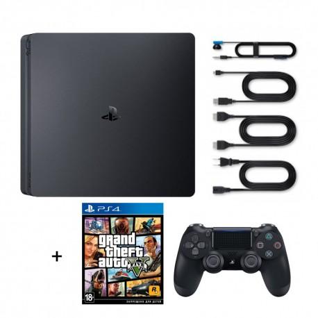 Sony PS4 Slim 500 GB + Игра GTA 5