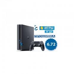 Купить PS4 Slim 1TB (Прошивка 6.72) + 20 игр в Минске
