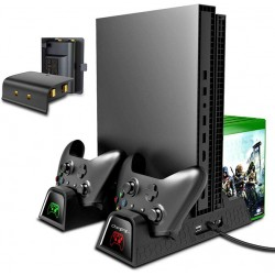 Вертикальный охлаждающий стенд OIVO Xbox One с 2 батареями 600 мАч.